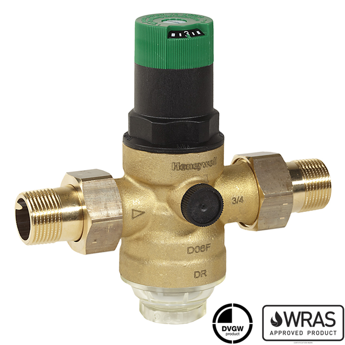 d06f honeywell pressure reducing valve with balanced seat and set point scale. Black Bedroom Furniture Sets. Home Design Ideas