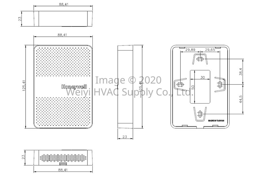 漢威 H7050系列 空氣品質傳送器 Honeywell H7050 IAQ Transmitter H7050B1018