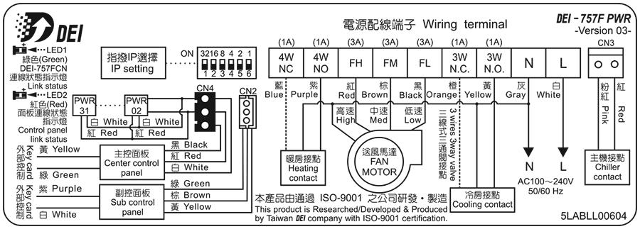 DEI-757F PWR 配線圖