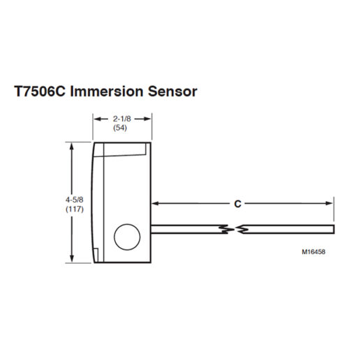 Honeywell T7506C1052, T7506C1060 SS spring-loaded immersion sensor-requires thermowell