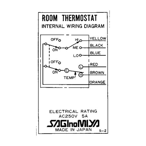 鷺宮製作所 CRS系列 溫度開關 SAGInoMIYA Room Thermostat CRS-C130X2