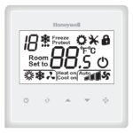 Honeywell T6820A2001 Large LCD Digital Thermostat 220VAC 2/4-pipe fan-coil control