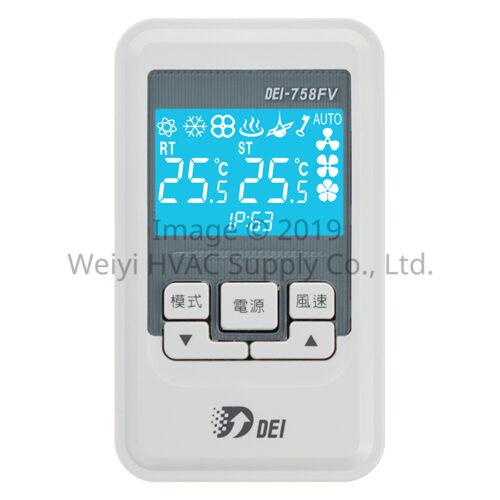 聯網型溫控系統 DEI-758FV 副控面板