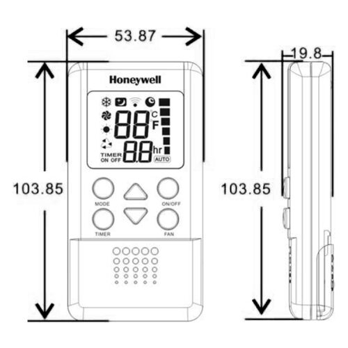 Honeywell XE8410 無線遙控 溫控器