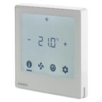 西門子 LCD顯示 全觸控 室內溫控 Siemens Flush Mount Touch screen room thermostat RDF800